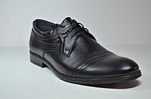 Чоловічі шкіряні туфлі чорні велетні Vivaro 785