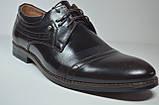 Мужские кожаные туфли великаны коричневые Vivaro 785/2, фото 2