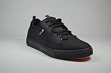 Мужские спортивные кожаные кеды черные в стиле Е 2