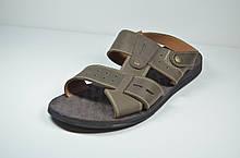 Мужские кожаные сандалии коричневые Bonis 110