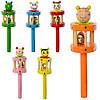 Деревянная игрушка Бубен MD 2051 (150шт) 17,5см, 6видов(животные), в кульке, 16,5-4,5-4,5см