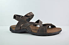 Мужские кожаные сандалии коричневые Step Wey 1072