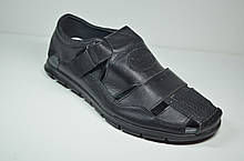 Мужские кожаные сандалии черные Cevivo 9966