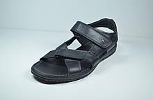 Мужские кожаные сандалии черные Marion 1960 - L - 5401