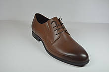 Чоловічі шкіряні туфлі руді IKOC 3416 - 8