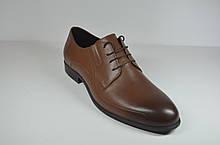 Мужские классические кожаные туфли рыжие IKOC 3416 - 8