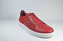 Мужские спортивные туфли кожаные кеды красные Multi-Shoes List