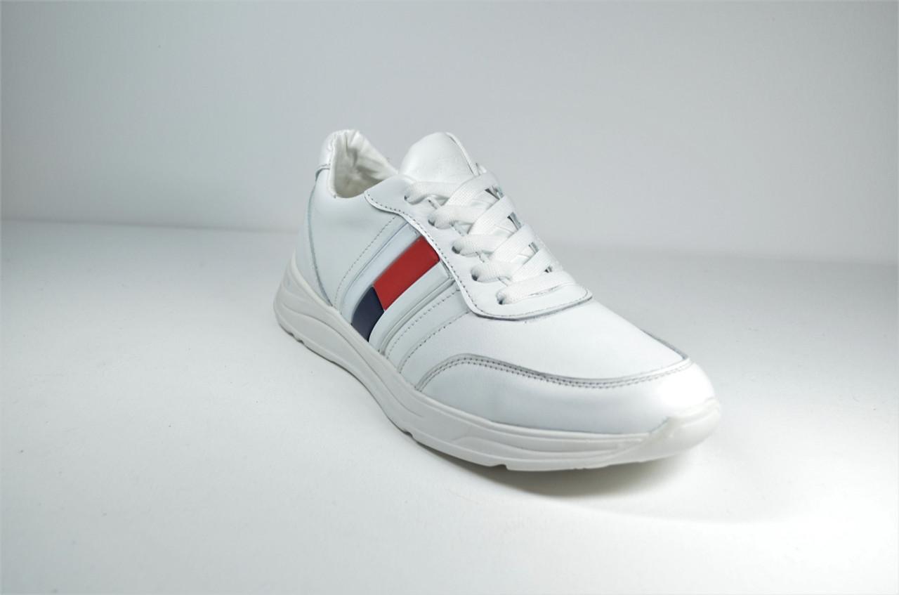 Шкіряні кросівки білі Multi-Shoes Tomas