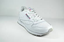 Подростковые и женские кроссовки белые в стиле Classic (7168 - 1)