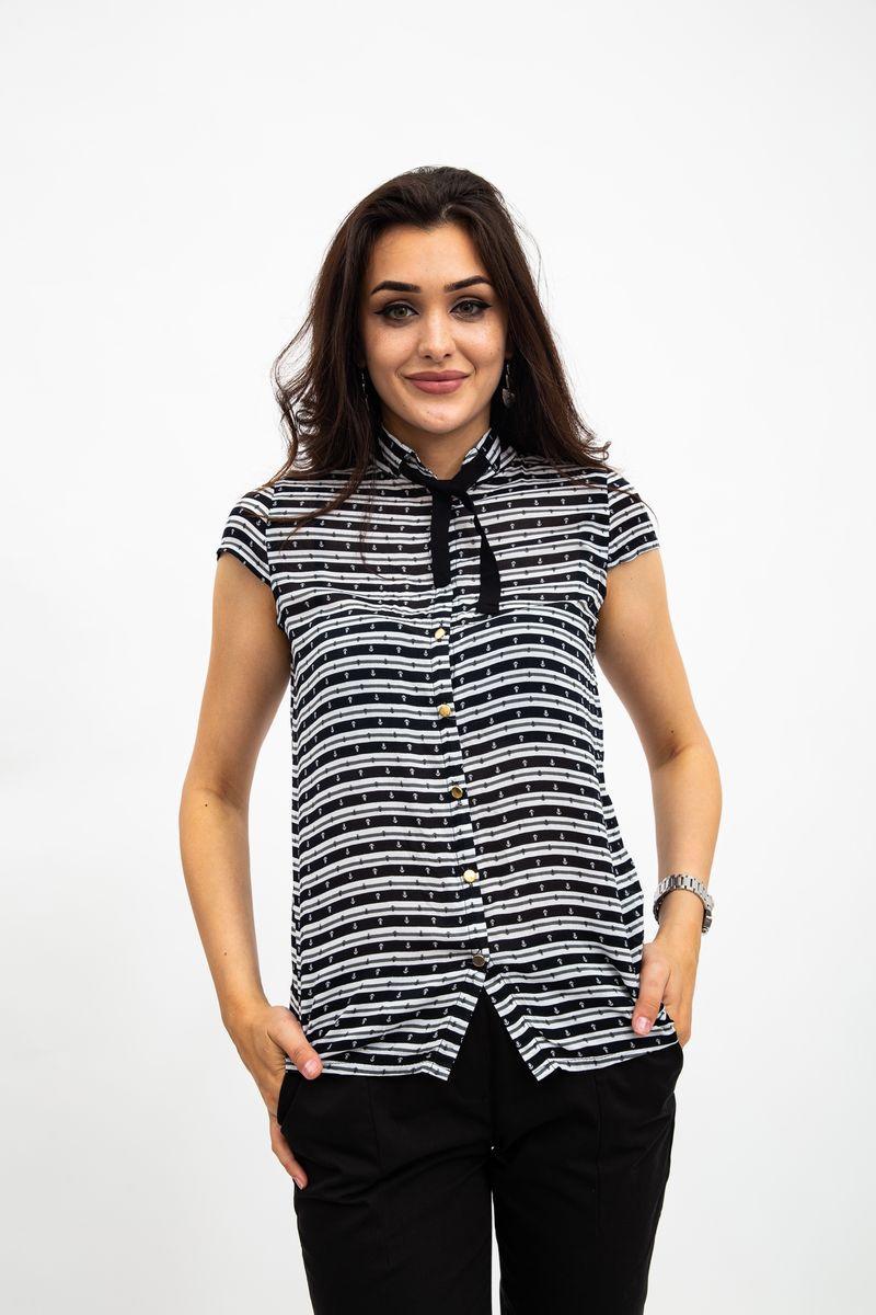 Блузка 115R2281 цвет Черно-белый