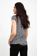 Блузка 115R2281 цвет Черно-белый, фото 2