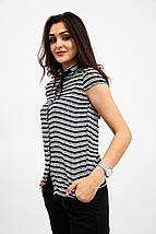 Блузка 115R2281 цвет Черно-белый, фото 3