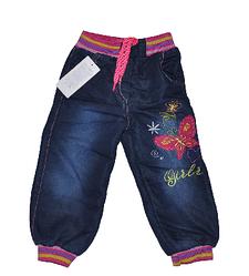 Джинсы детские для девочек,утепленные.Детская  одежда оптом.