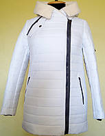 Парка белая женские куртки  демисезон