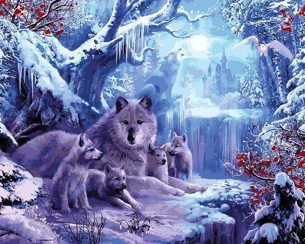 VP1101 Вольчя зима Набор-картина по номерам