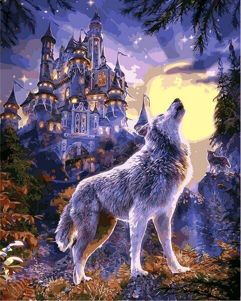 VP1121 Раскраска по номерам Волчья луна