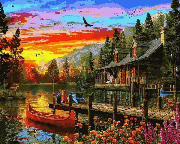 VP1157 Раскраска по номерам Сказочное место