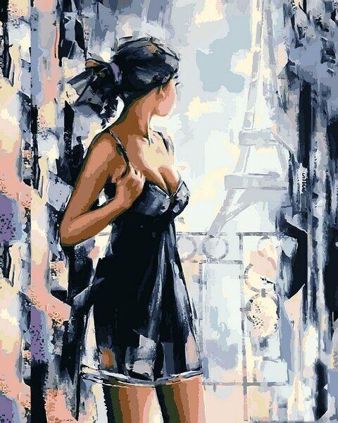 VP1173 Картина-раскраска по номерам Вид на Париж
