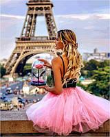 VP1235 Картина-раскраска по номерам С цветком в Париже
