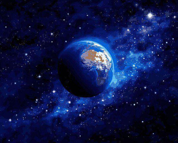 VP1260 Картина-раскраска по номерам Земля из космоса