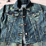 Джинсовая курточка на девочку подростка 9. Размер 10 лет, 11 лет, 12 лет, 13 лет, 14 лет, фото 4