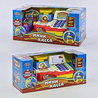 """Кассовый аппарат """"Мини-касса"""" 7162 (12) звук, микрофон, весы, калькулятор, продукты, в коробке"""