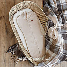 Евро пеленка на молнии с шапочкой Merely, бежевая 3-6 мес