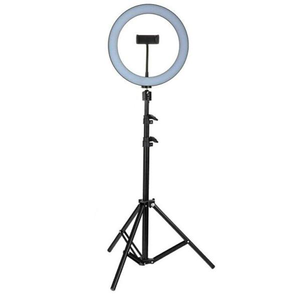 Кільцева LED лампа 26 см 16W з тримачем для телефону і Штатив 2 м селфи кільце 3 режими світіння набір