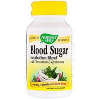 Травы для Снижения Сахара, Blood Sugar, Nature's Way, 90 Капсул