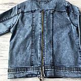 Джинсовая куртка на мальчика подростка 3. Размер 10 лет, 11 лет, 12 лет, 13 лет, 14 лет, фото 4