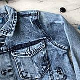 Джинсовая куртка на мальчика подростка 3. Размер 10 лет, 11 лет, 12 лет, 13 лет, 14 лет, фото 6