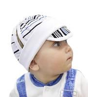 Трикотажная шапочка от солнца с козырьком 68 74 размер 3 6 9 месяцев годик