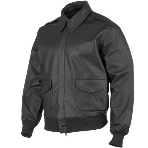 Куртка лётная кожаная американская A2, [019] Black