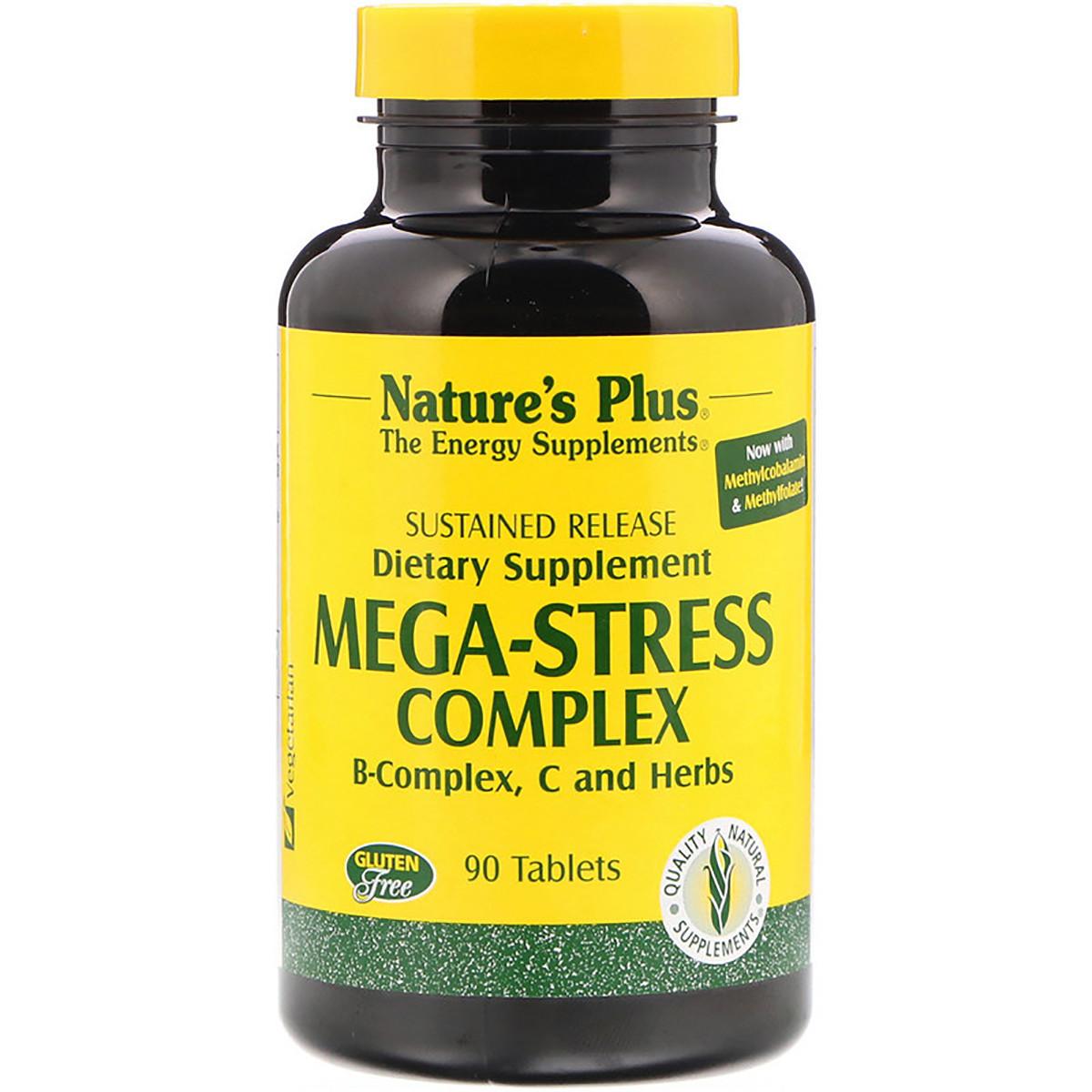 Супер Сильный Комплекс от Стресса, Mega-Stress, Nature's Plus, 90 таблеток