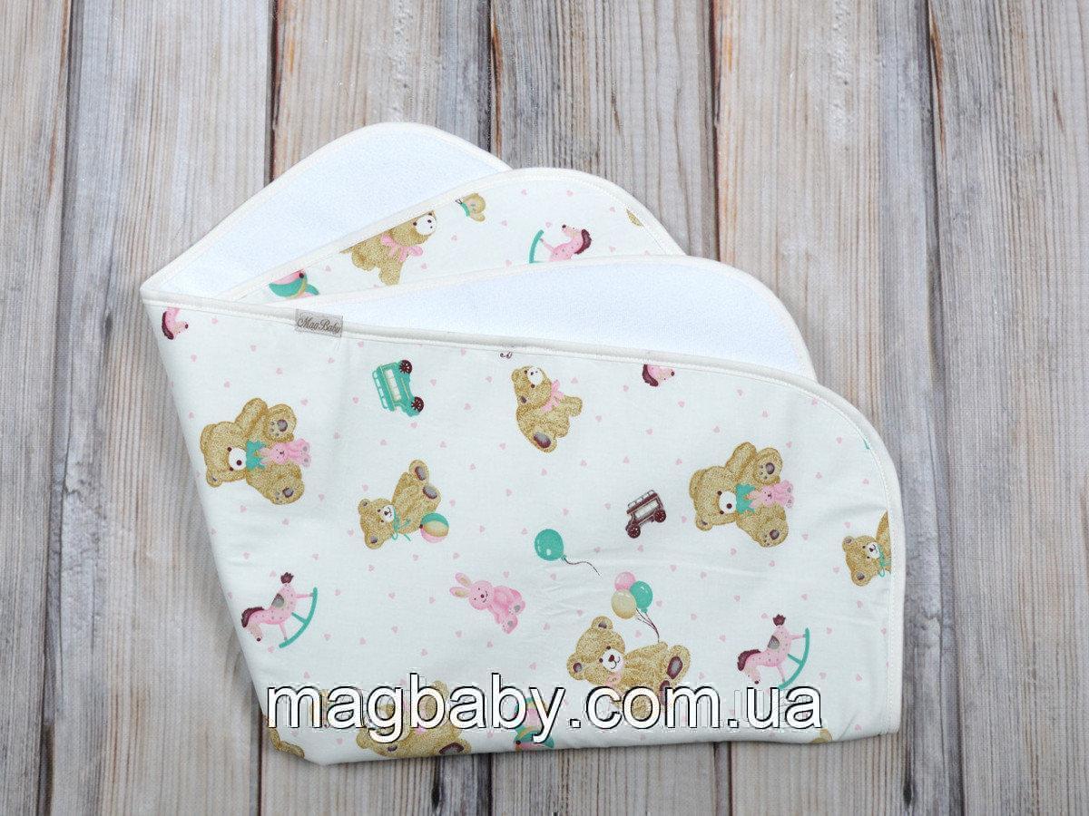 Непромокаемая пеленка 6080, мишки розовые