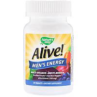 Мультивитамины для мужчин, Nature's Way, Alive!, Men's Energy Multivitamin-Multimineral, 50 таблеток