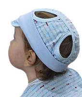 Трикотажная шапочка от солнца с козырьком 68 74 размер 6 9 месяцев годик
