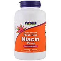 Ниацин (В3), No-Flush Niacin, Now Foods, 500 мг, 180 вегетарианских капсул