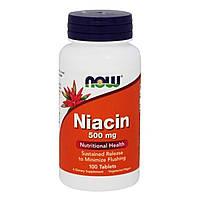 Ниацин (В3) 500мг, Now Foods, 100 таблеток
