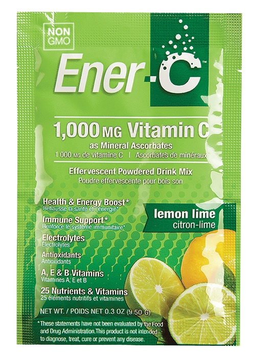 Витаминный Напиток для Повышения Иммунитета, Вкус Лимона и Лайма, Vitamin C, Ener-C, 1 пакетик