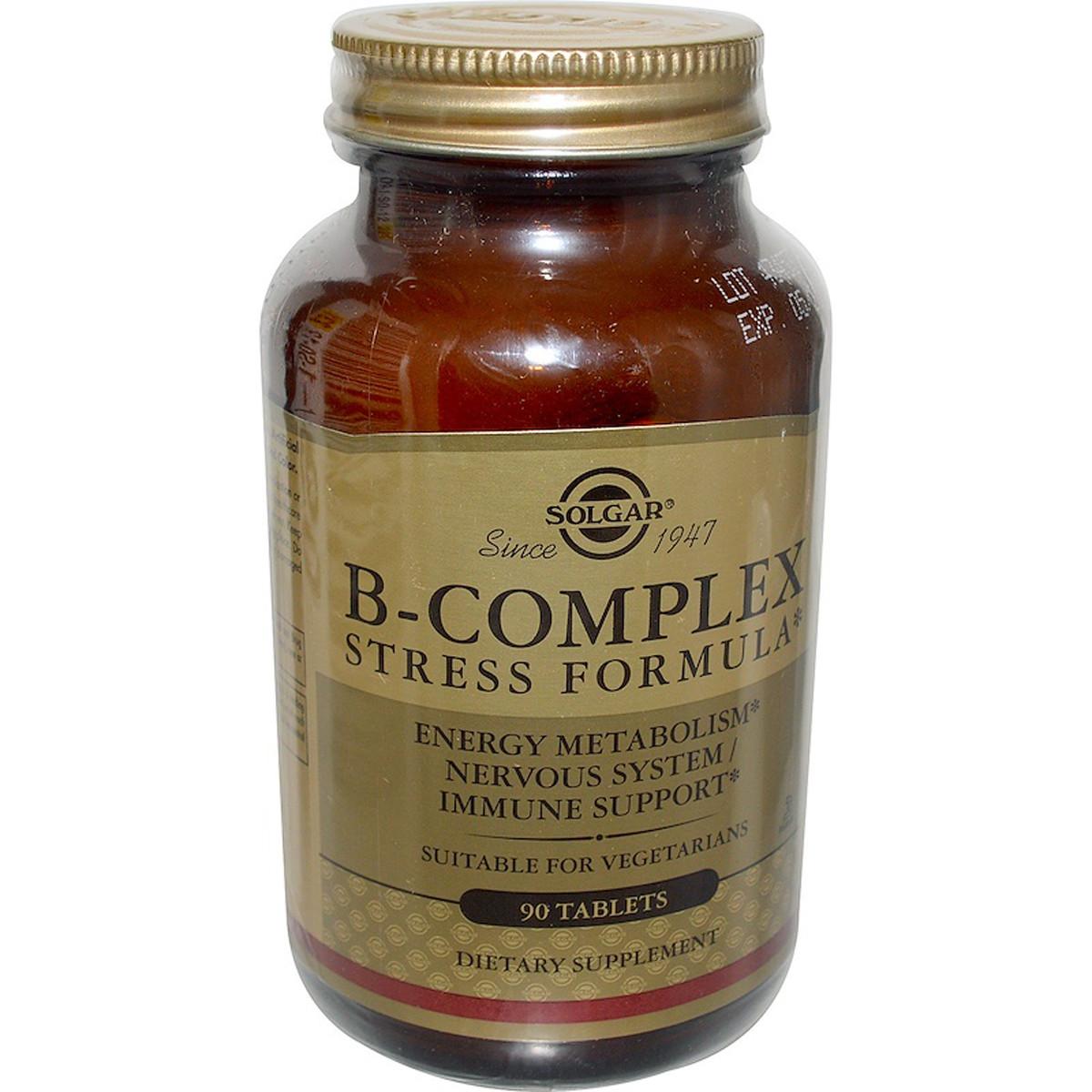 B-Комплекс от Стресса, B-Complex Stress Formula, Solgar, 90 таблеток