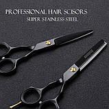 Brainbow 5,5 дюймів 14см комплект перукарських ножиць для стрижки волосся BHT045, фото 8