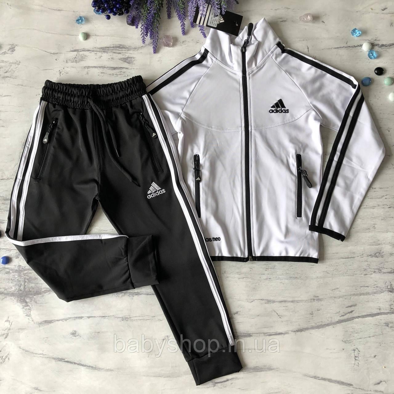 Теплый костюм на мальчика в стиле Adidas 172. Размер  116 см, 128 см, 140 см, 152 см, 164 см
