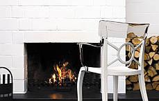 Пластикове дизайнерське крісло сидіння чорне, верх прозоро-чистий, фото 2