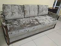 Мебельная ткань велюр бежевый ширина 150 см сублимация 6035, фото 1