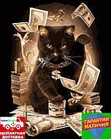 Картина по номерам Денежный кот Грошовий кіт 40*50см Rainbow Art GX8911 Розпис по номерах