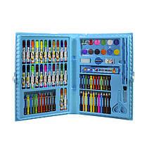 Большой набор для детского творчества и рисования Lesko Painting Set 86 предметов Blue детский в чемоданчике, фото 2