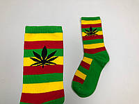 Носки HUF Plantilife - высокие - зеленые с полосками