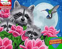 Картина по номерам Любопытные еноты 40*50см Rainbow Art GX25164 Розпис по номерах