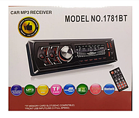 Автомагнитола 1DIN MP3 1781BT (1USB, 2USB-зарядка, TF card, bluetooth)